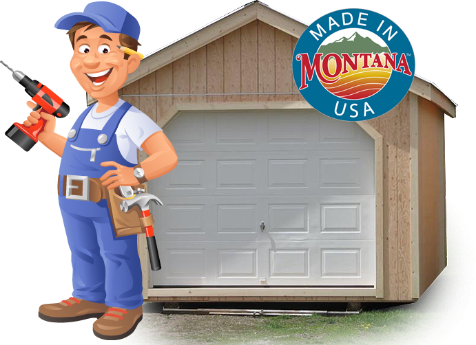 The Shed man - Kalispell Custom Sheds made in Montana